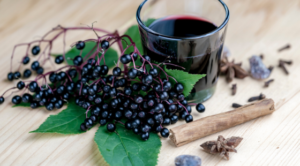 Elderberry Juice and Berries
