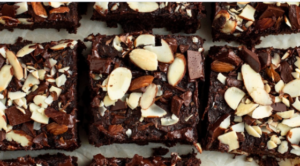 Black Bean Brownies with Slivered Almonds