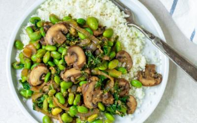 Mushroom and Edamame Stir Fry