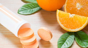 Vitamin C From Oranges and Tablets